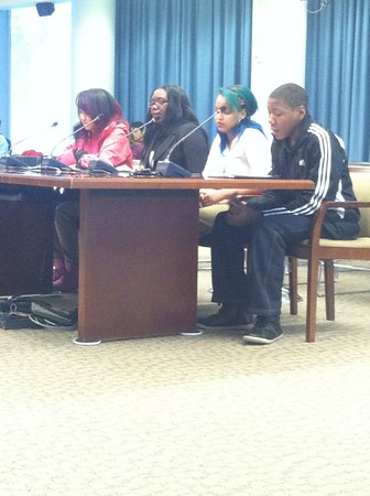 Coolidge students, Jay and I-ra, had an opportunity to share there testimonies at the budget oversight hearing.